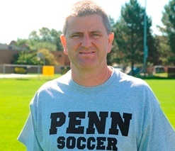 Penn Girls Soccer coach Jeff Hart