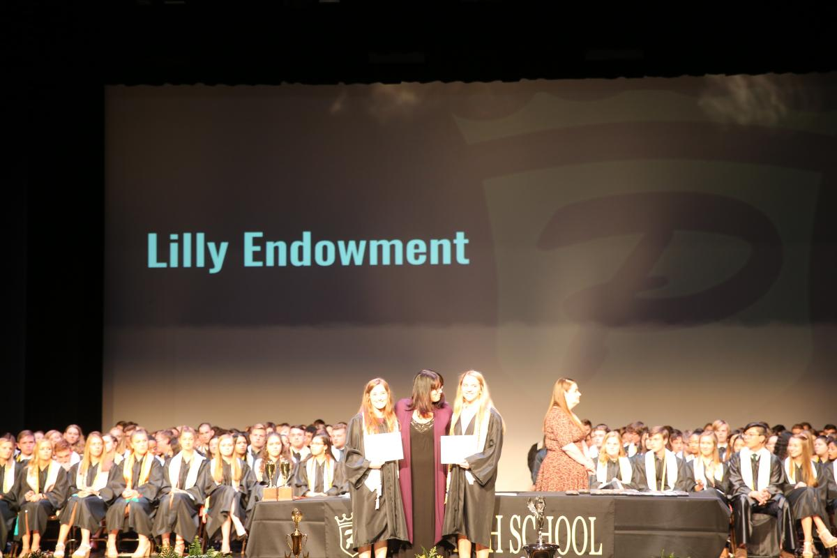 Abigail Meckstroth & Emily Morales Liddiard, awarded the Community Foundation of Saint Joseph County Eli Lilly Endowment Scholarship