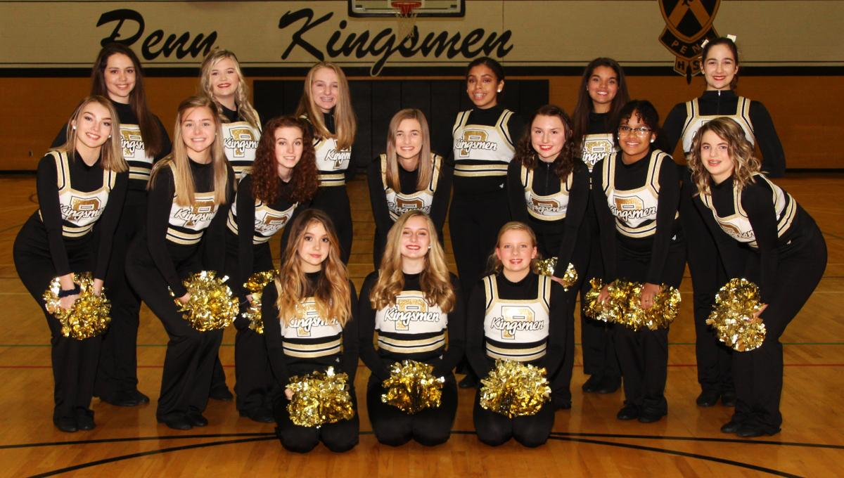 Penn Junior Varsity Poms.