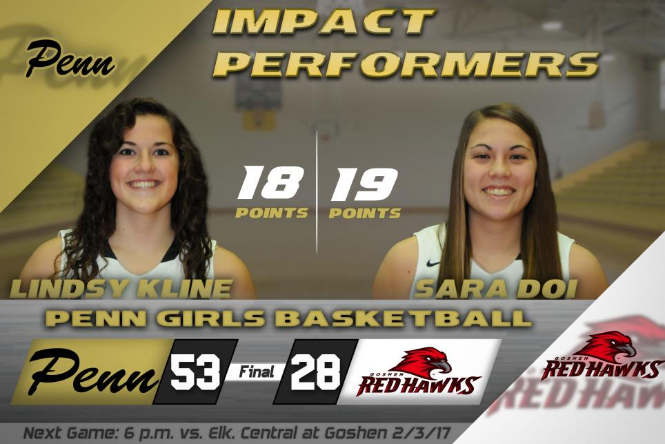 Image of Penn's leading scorers, Lindsy Kline and Sara Doi