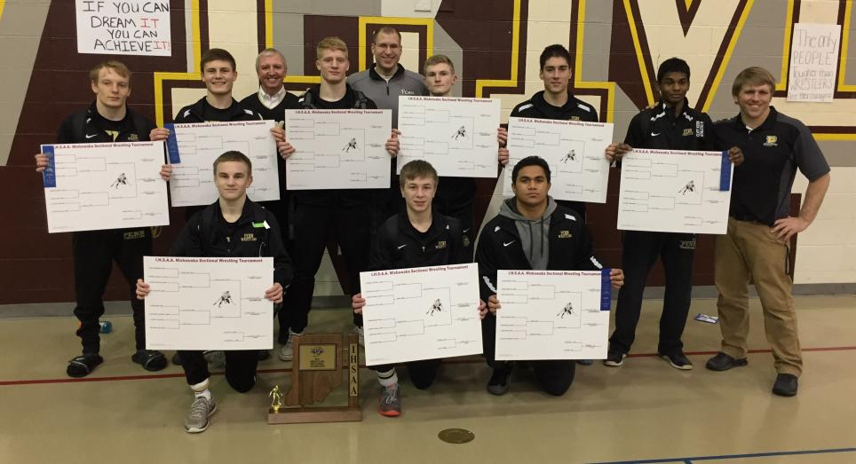 Penn's nine individual wrestling Sectional champions