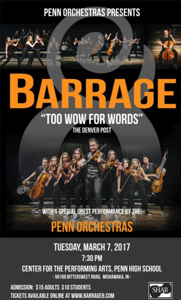 Barrage 8 concert poster