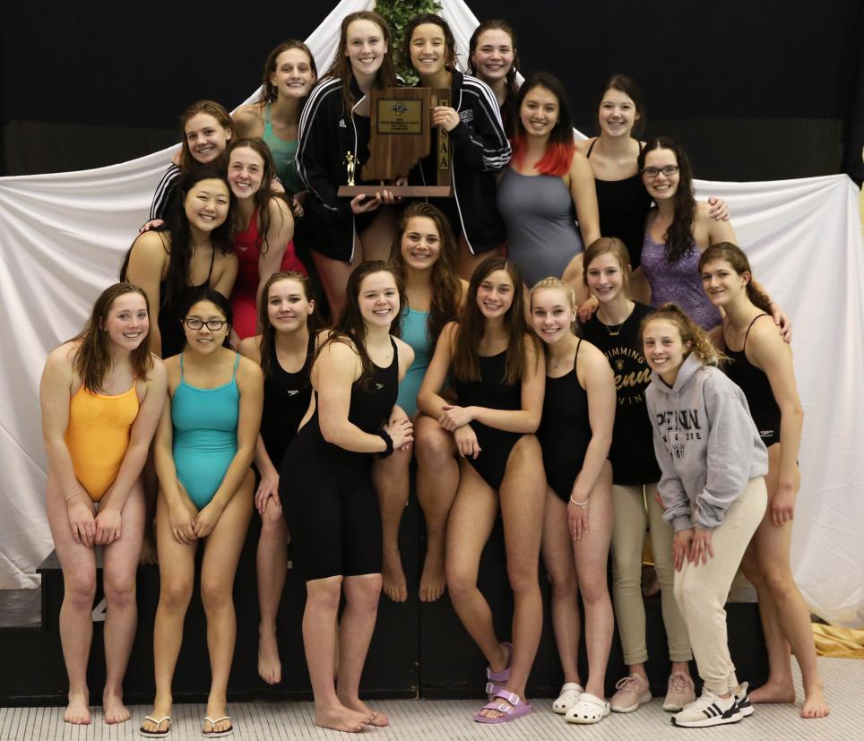 The Sectional Champion Penn Girls Swim/Dive Team.