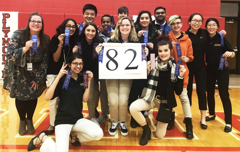 The Penn Spell Bowl Team qualifies for the State Championships.