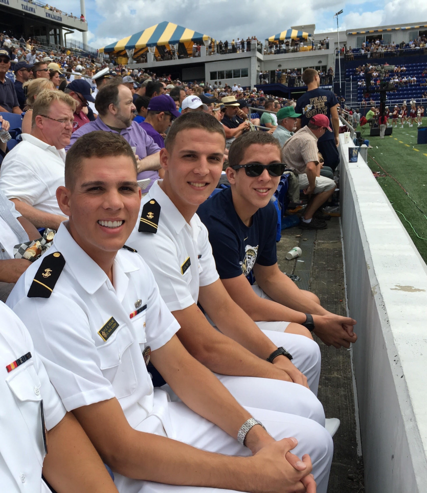 The McGuire Brothers at a U.S. Naval Academy event.