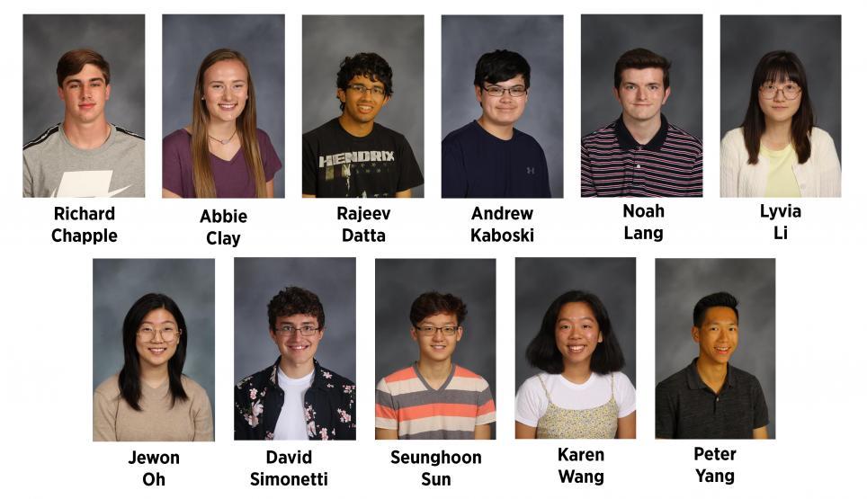 Penn's National Merit Scholarship Finalists.