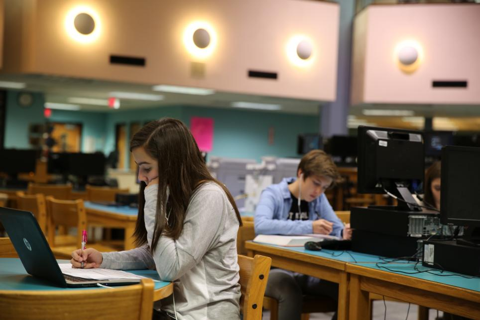 Penn student studying in IMC