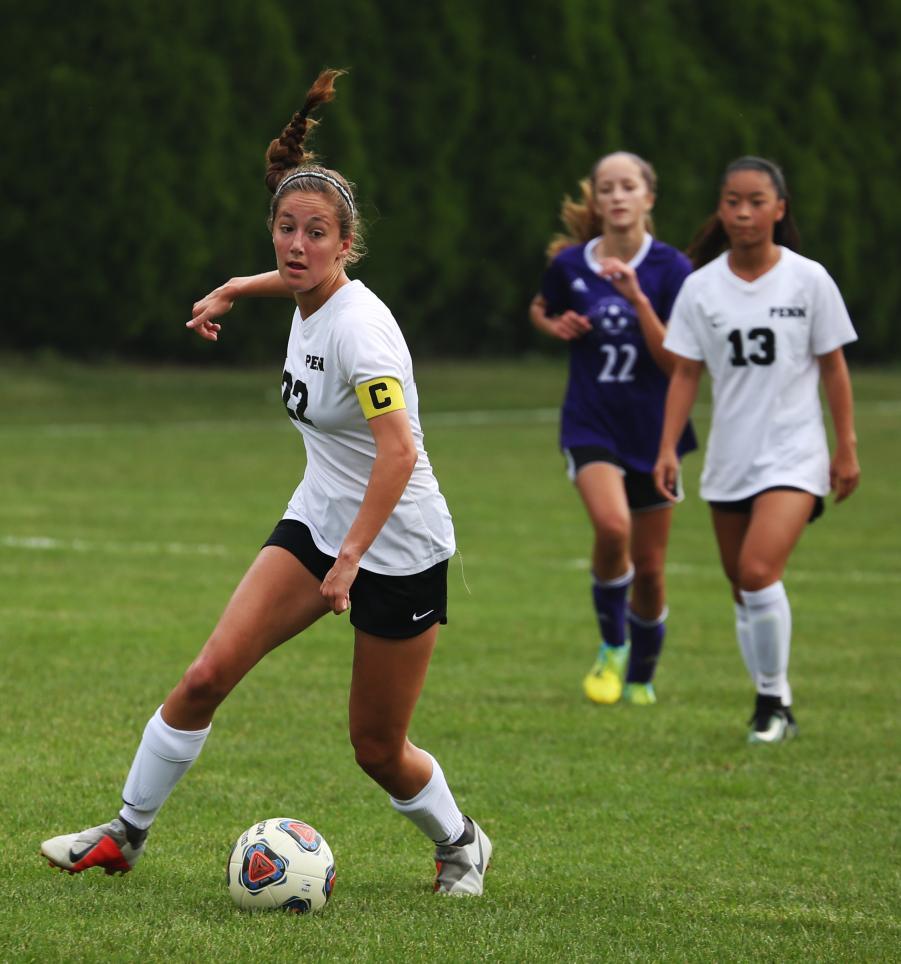 Penn Girls Soccer in action against Leo.