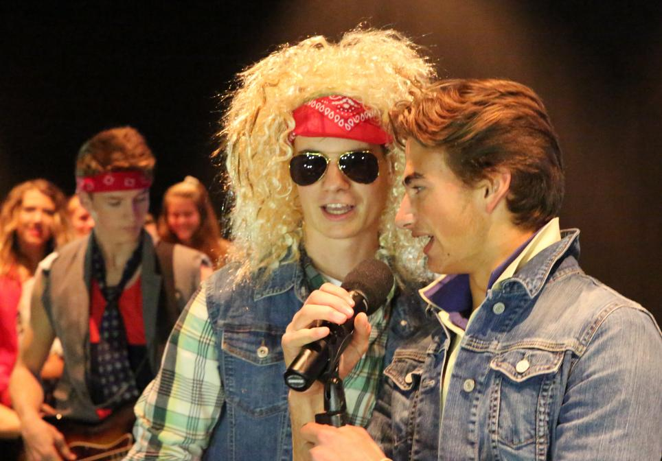 "Penn students sing during ""Rocktoberfest""."