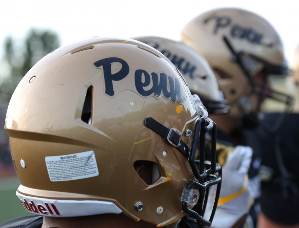 Penn Football Helmets