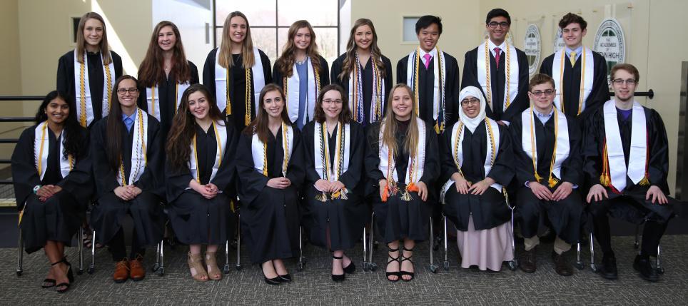 Penn High School's Valedictorians for the Class of 2018.