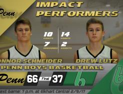 Headshots of Connor Schneider and Drew Lutz, who were named Impact Performers by The Pennant.