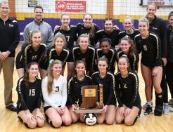 The 2017 Sectional Champion Penn Volleyball Team.