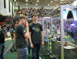 Penn students at the 2017 Robotics event