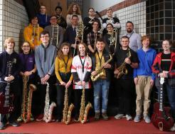Principal Sean Galiher and the Penn Advanced Jazz Ensemble.