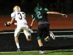 Penn wide receiver Nathan Hurbough hauled in a touchdown pass.