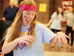 Lauren Cernak busts a move at the Dance Marathon.