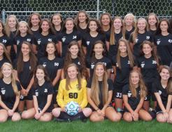 The 2017 Penn JV Girls Soccer Team.
