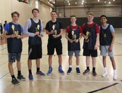 South Dakota State, this season's Championship Team, from left, Nick Roberts, Cameron Koschnick, Nicholas Padrnos, Justin Schneider, Zach Johnston, Sparsh Patel.