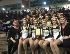 The Penn Competition Poms Team placed fifth in the State Championships.