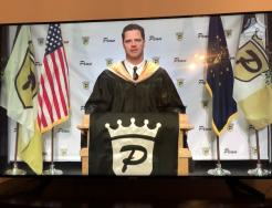 Penn Principal Sean Galiher during Virtual Commencement broadcast