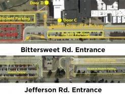 Penn High School parking map.