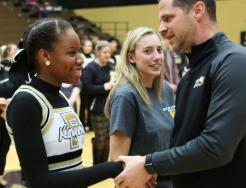 Principal Galiher hands out Academic Letters in a ceremony Feb. 5, 2019