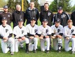 The Kingsmen Seniors with Principal Sean Galiher, P-H-M Chief Operating Officer Aaron Leniski, Athletic Director Jeff Hart, and the Kingsmen coaches.