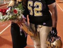 Homecoming Queen Kendra Laidig and Homecoming King Carrington Neal.