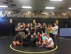 Sarah practices with Penn Female Wrestling Team Oct. 14, 2019