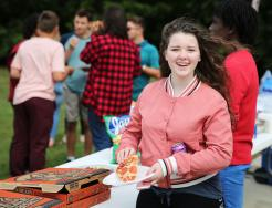Penn's Freshmen enjoyed music, pizza and football at the Freshmen Tailgate.