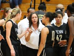 Penn High School's Girls Basketball Coach Kristi Ulrich