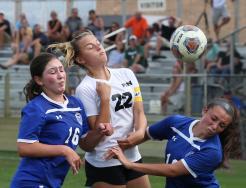 Penn Girls Soccer action.