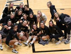 The Penn Volleyball Team before the Semi-state Championship Game.