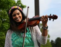 Rachel Santosh performs during Pennstock.