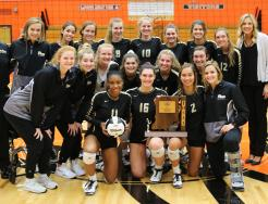The 2018 Sectional Champion Penn Volleyball Team.