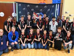 Penn High School's Bravo Bots and Beta Bots League Championship Teams.