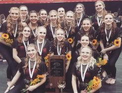 The Penn Winter Guard, which placed third in the state.
