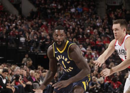The Indiana Pacers in action against the Portland TrailBlazers.