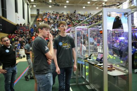 Penn students at the 2017 Robotics event