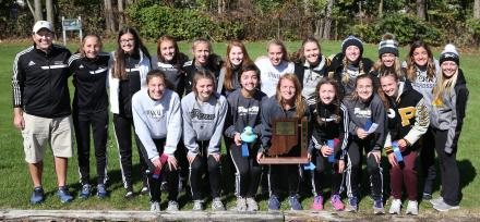 The Penn Girls Cross Country Sectional Championship Team.