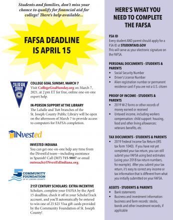 FAFSA form.