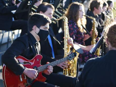 """Penn High School presented """"Evening of Jazz at the Park"""" at Mishawaka's Central Park on Thursday, May 13, 2021."""