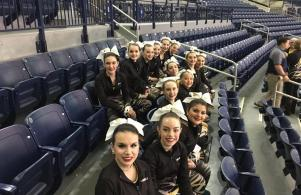 Penn Competition Poms before performance at Globetrotters game (1/21/17)