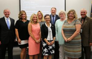 Mr. Hope was honored as a 4-Star School leader at the Aug. 8 Board Meeting