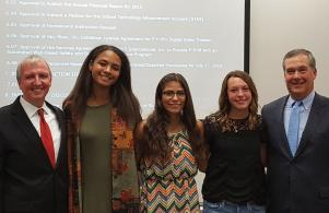 Penn's 4x800 relay team was recognized at the July 25 School Board Meeting for being state champs!