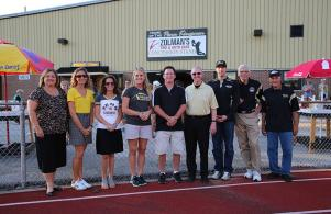 Zolman Tire recognition for Zolman's Tire and Auto Care Concession Stand at TCU Freed Field, 8-19-16