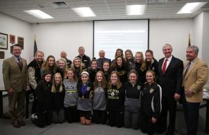 Board Recognition of 2017 Penn Girls Soccer State & National Champions