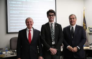 Penn student Matt Forsey chosen for 2018 U.S. Senate Youth Program recognized at the 12/11/17 PHM Board Meeting with Supt. Dr. Thacker & Bd. Pres. Gary Fox