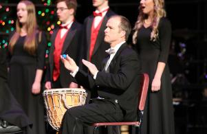 Mr. Oke performs at Sounds of the Season
